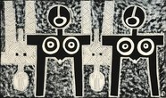 "Z cyklu ""Afrika"", smalt na železe, 150 x 250 cm"
